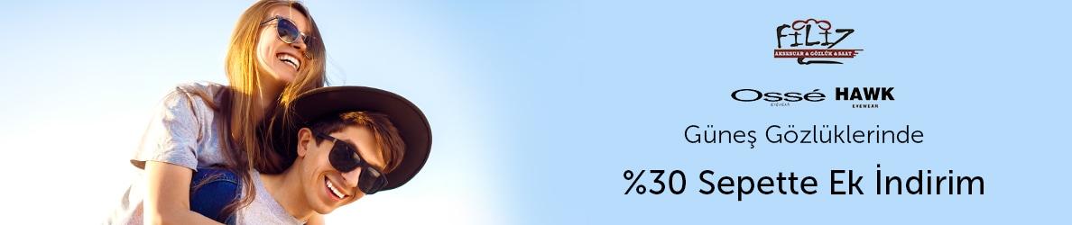 filizaksesuar Kadın ve Erkek Güneş Gözlüklerinde %30 Sepette İndirim Fırsatı!