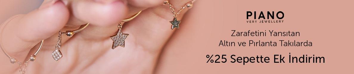 Piano Jewellery Mağazasında %25 Sepette Ek İndirim
