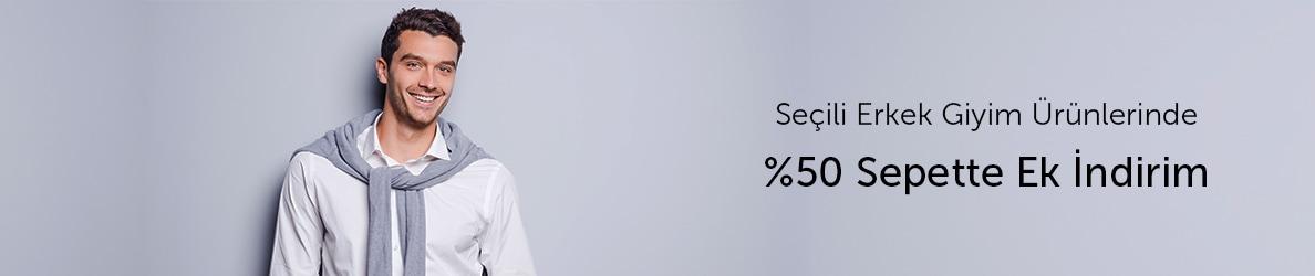 Murat Giyim Erkek Giyim Ürünlerinde %50 Sepette Ek İndirim