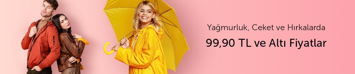 Yağmurluk, Ceket ve Hırka Ürünlerinde 99.90 TL ve Altı Fiyatlar