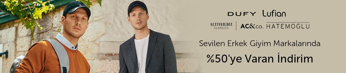 Erkek Giyim Markalarında %50'ye Varan İndirim