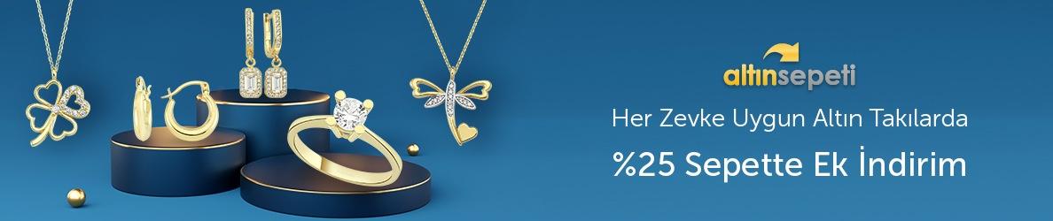 Altınsepeti Her Zevke Uygun Altın Takılarda %25 Sepette Ek İndirim