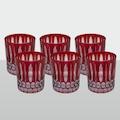99458403 - Dark Red Viski Bardağı %100 Organik El İşçiliği 24'Lü Koli - n11pro.com