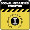 86706890 - Boss Tape Sosyal Mesafe Koruma Lütfen Bu Noktada Bekleyin İkaz Bandı Sarı - n11pro.com