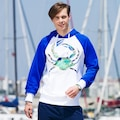 06579908 - Biggdesign AnemosS Yeşil Yengeç Desenli Erkek Sweatshirt - n11pro.com