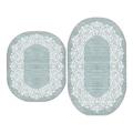 23052127 - Yünteks İpek Saçaklı Oval Klozet Takımı Mint - n11pro.com