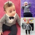 85695414 - Necix Petek Desenli Erkek Bebek 2'li Takım Füme 3-6-9 Ay - n11pro.com