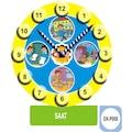 60316341 - Eksen Saat 35x25x0.8 CM 35 Parça Ahşap Puzzle - n11pro.com