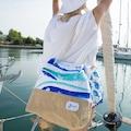 77974137 - Biggdesign AnemosS Dalga Desenli Plaj Çantası - n11pro.com