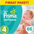65037461 - Prima Aktif Bebek Maxi 4 Beden Bebek Bezi 66 Adet - n11pro.com