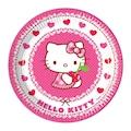 82655720 - Kikajoy 8 adet Lisanslı Hello Kitty Hearts Karton Tabak - n11pro.com