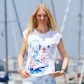 25822528 - AnemosS Fenerci Kız Desenli Bisiklet Yaka Kadın T-Shirt Beyaz - n11pro.com