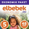 69325122 - Elbebek Elite Bebek Bezi 5 Numara Junior 48 Adet - n11pro.com
