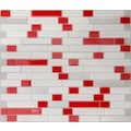 80928036 - Tasarım Cam Mozaik Kristal Cam Tivoli Mix Kırmızı - n11pro.com