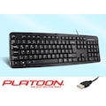 27485115 - Platoon PL-070 Kablolu USB Standart Klavye - n11pro.com
