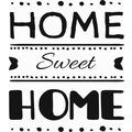 25548885 - Stencilsepeti Evim Güzel Evim Stencil Ahşap Şablon Siyah Beyaz - n11pro.com
