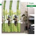 26955869 - Zethome Tropik Banyo Duş Perdesi 10056 Çift Kanat 2X120x200 CM - n11pro.com