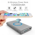 21846479 - Qi Wireless Kablosuz Şarj Cihazı 10000 MAH Powerbank - n11pro.com