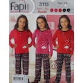 00265706 - Fapi 3113 Kız Çocuk Kadife Pijama Takım - n11pro.com