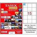86576903 - Tanex TW-2115 Lazer Etiket 70 x 56 MM 100 Sayfa - n11pro.com