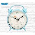22696064 - Galaxy Masa Saati Görünümlü Duvar Saati Mavi 25 x 31 CM - n11pro.com