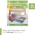 91952825 - Magic Saver Bag 2'li XXL Vakumlu Poşet Seti Şeffaf 80 x 100 CM - n11pro.com