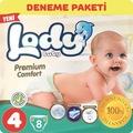 02289265 - Lody Baby Premium Comfort Maxi 7-18 KG Bebek Bezi Deneme Paketi 4 Beden 8 Adet - n11pro.com