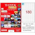 68124836 - Tanex TW-2060 Lazer Etiket 30 x 9 MM 100 Sayfa - n11pro.com
