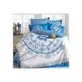 15616653 - Komfort Home Çift Kişilik Saten Deluxe Nevresim Takımı Mavi 200 x 220 CM - n11pro.com