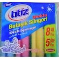 77113741 - Titiz Eko Bulaşık Süngeri 8'li Oluklu - n11pro.com