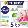 15013346 - Sleepy Natural Bebek Bezi 5 Numara Junior 2'li Jumbo 48 Adet - n11pro.com