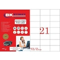 23447708 - tw-2124 Ebat 70 x 42.43 mm Lazer Etiket  A4 Sayfada 24 Etiket - n11pro.com