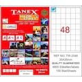 48998074 - Tanex TW-2348 Lazer Etiket 35 x 35 MM 100 Sayfa - n11pro.com