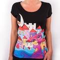 61085225 - Biggdesign Owl and City Kadın T-Shirt - n11pro.com
