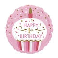 04440070 - Kullan At Market 1 Yaş Kız Cupcake Folyo Balon 43 CM - n11pro.com