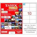 86251493 - Tanex TW-2610 Lazer Etiket 105 x 57 MM 100 Sayfa - n11pro.com