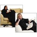 25122153 - Giyilebilir Kollu Battaniye - Siyah - n11pro.com