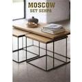 96804121 - Noowa Moscow 3'lü Sehpa Seti Ceviz - n11pro.com