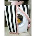 55599150 - Çeyizistan Dijital Baskılı Çamaşır Makinası Örtüsü Siyah-Beyaz 60 x 60 x 80 CM - n11pro.com