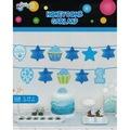 24417295 - Kikajoy 1 Yaş Doğum Günü Temalı Mavi Sıralı Petek Süs - n11pro.com