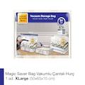 44040007 - Magic Saver Bag Tekli Vakumlu Çantalı Hurç XL Beyaz 50 x 65 x 15 CM - n11pro.com