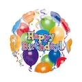 63895763 - Rengarenk Balonlu Happy Birthday Folyo Balon 43 Cm - n11pro.com