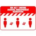 28757352 - Boss Tape En Az 1 M Sosyal Mesafenizi Koruyun İkaz Bandı Kırmızı - n11pro.com