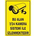 13311342 - Bu Alan 7-24 Kamera Sistemi İle İzlenmektedir Uyarı Levhası - n11pro.com