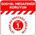 06186395 - Boss Tape Sosyal Mesafe Koruma İkaz Bandı Kırmızı - n11pro.com