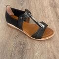 90155306 - Kadir Ekici Tek Çizgi Sandalet Siyah 36 - n11pro.com