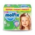 83532050 - Molfix 3D Extra Large Bantlı 15+ KG Bebek Bezi 6 Beden 50 Adet - n11pro.com