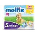 38808392 - Molfix Junior 5 Beden Dev Ekonomik Paket 48 Adet Bebek Bezi - n11pro.com