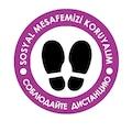 72914039 - Codegen Türkçe - Rusca Sosyal Mesafe Etiketi Sticker 30 x 30 CM - n11pro.com