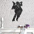 32349200 - Messken Metal Duvar Saati Şık ve Özgün Tasarım Siyah T23 - n11pro.com